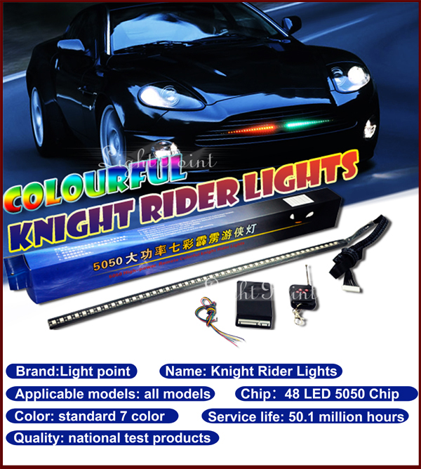 New 54cm 7color 5050 chip magic knight rider scan light