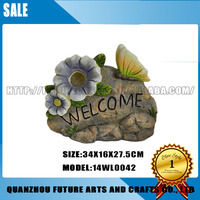 Resin Ornament Flower garden welcome Sign Board