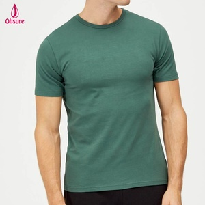 slim fit mens short sleeve active top sports t shirt spandex/cotton gym shirt