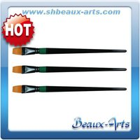 professional paint brushes,golden synthetic flat artist brush