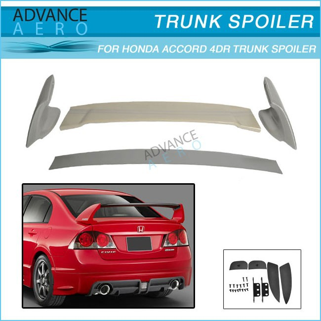 ABS Mugen Style Rear Trunk Spoiler For 2006 2007 2008 2009 2010 2011 Honda Civic 4Dr