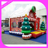 Merry Christmas inflatable bouncy castle,happy fun inflatable Christmas jumping bouncy for outdoor play