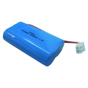 Factory price li ion ICR18650 battery 1800mAh 2000mAh 2200mAh 7.4V battery pack lithium battery for Cash Machine