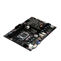 2017 Industrial mining Motherboard with Pentium Processor 4* standard SATAIII Support Linux Fanless