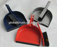 HQ0333 plasitc houseware soft hair brush and dustpan set with PVC slip