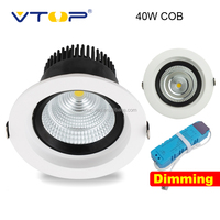 40W dimmable COB led downlight recessed spotlight downlight