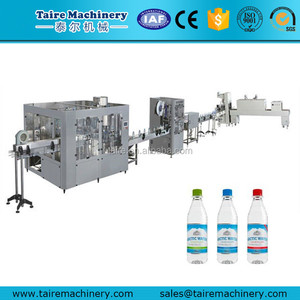 18-18-6 Mineral water plant machinery cost/Bottling machine price/Small bottle filling and capping machine