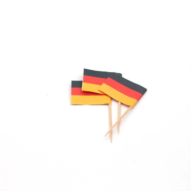 कस्टम कॉकटेल दंर्तखोदनी सजावटी Toothpicks बांस झंडा छड़ी