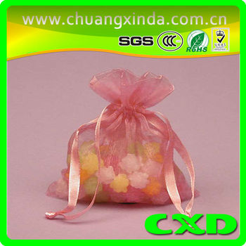 3.94inch*4.73inch Customized Logo Organza Bag For Gift Jewelry Cosmetic Candy10CM*12CM