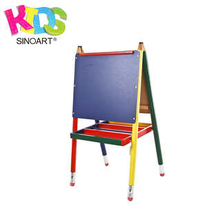 Fashion Wooden Folding Painting Children Easel Stand For Kids Students