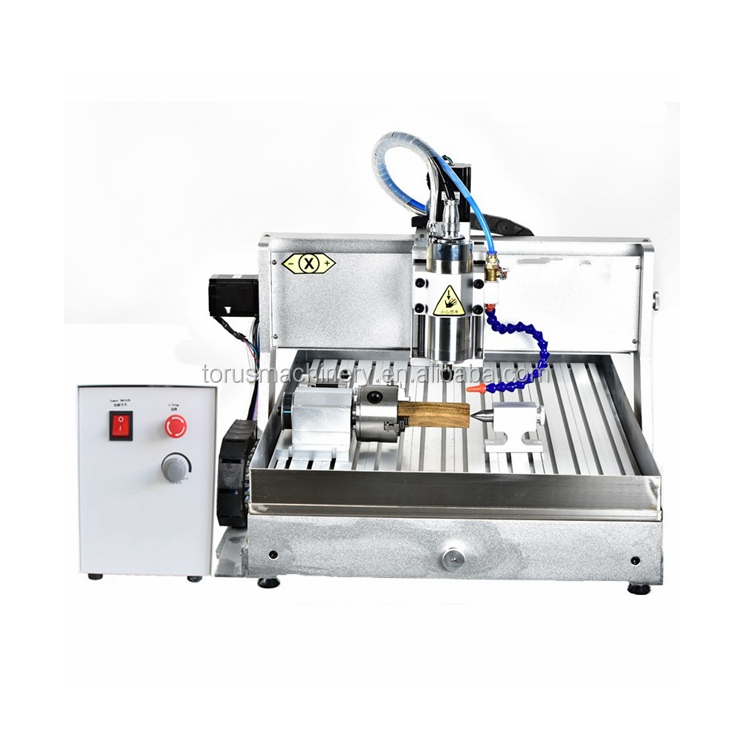 Ad alta efficienza mini 6090 4 assi cnc router