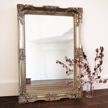 Customized Wall Mirror Floor Adressing Mirror Vintage Wood framed mirror
