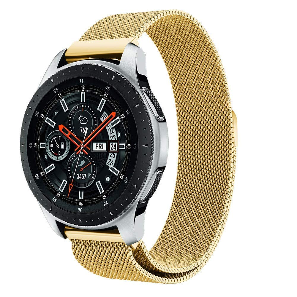 Fenebort Accessory for Samsung Galaxy Watch, Luxury Milanese Magnetic Loop Stainless Steel Metal Bracelet Watch Band Strap for Samsung Galaxy Watch 46mm/42mm