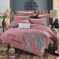 embroidery luxurious 100% cotton bedding set bedsheet