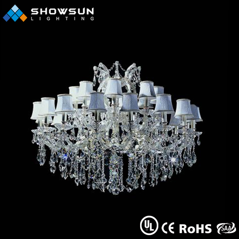 Classical style made in zhongshan vintage empire style beaded clear crystal chandelier
