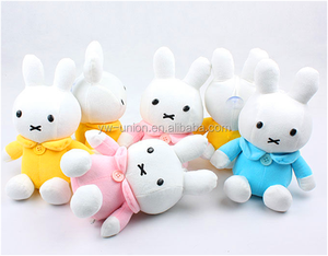 Easter day gift white bunny rabbit toys stuffed plush baby bunny toys
