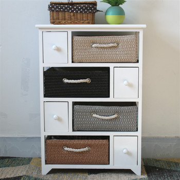 European Style White Color Wooden Storage Cabinets With Straw Woven Baskets Buy Wooden Storage Cabinetsstraw Woven Basketsstorage Cabinets Product