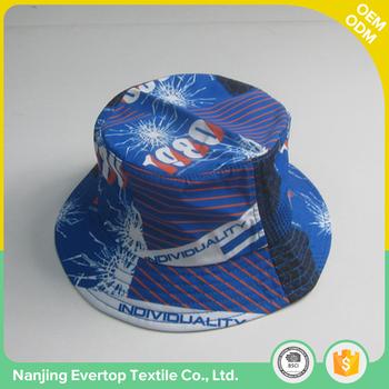 Hot sale full sublimation print pattern 100% polyester custom mens plain bucket  hat wholesale f9383065c3d