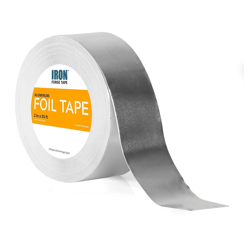 Aluminum Foil Tape Roll - 2 inch x 55 Feet Heavy Duty Tin Foil Duct Tape for HVAC