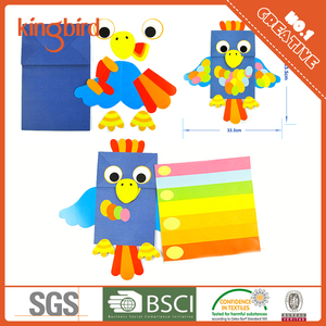 Easy Paper handmade Puppet paper animal hand puppets diy kit