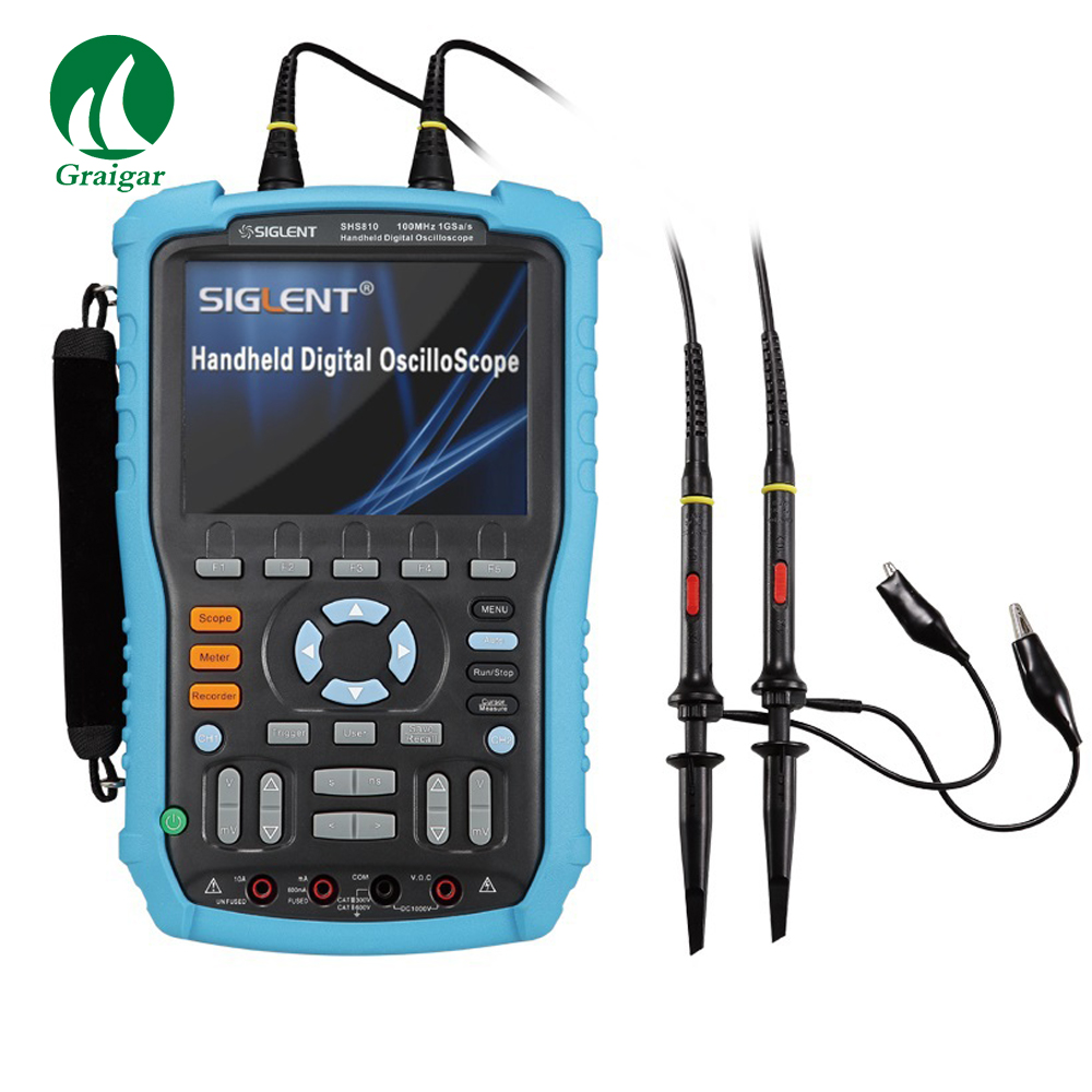 Siglent SHS815 Handheld Digital Oscilloscope 150MHz 2 Channels Oscilloscope with 5.7 inches color TFT-LCD