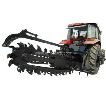 Hot sale factory supply tractor driven rock trencher