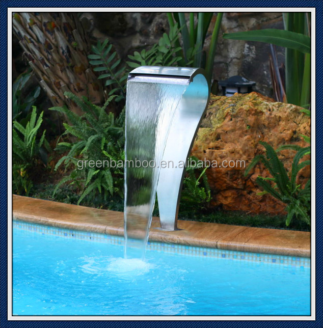 Piscine d 39 eau lame cascade avec t l commande rgb led for Cascade d eau piscine