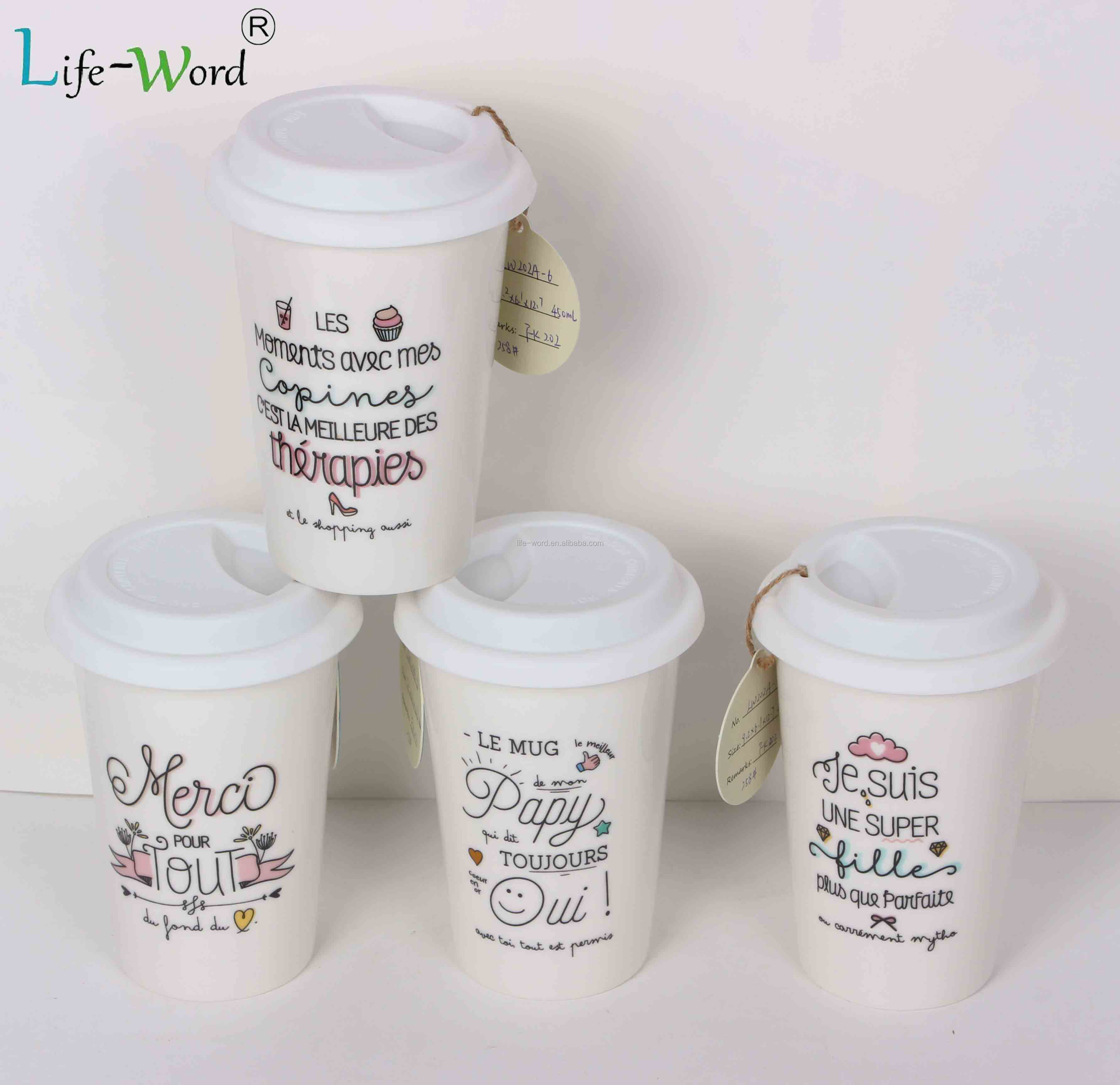 Unique coffee mug wholesale ceramic coffee mug with printed logo cup customize with handle