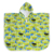 100% cotton green cartoon ET digital printed hooded towel