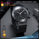 Curve glass luxury high quality japan movt quartz stainless steel back watch mens watches all black
