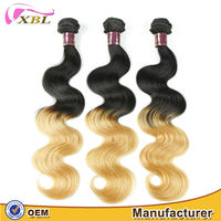 XBL chic new style unprocessed no lice healthy shedding free ombre 1b 27 hair color
