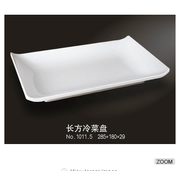 Rectagle shape white melamine dinner plate plastic food plate  sc 1 st  Alibaba & Rectagle Shape White Melamine Dinner Plate Plastic Food Plate - Buy ...
