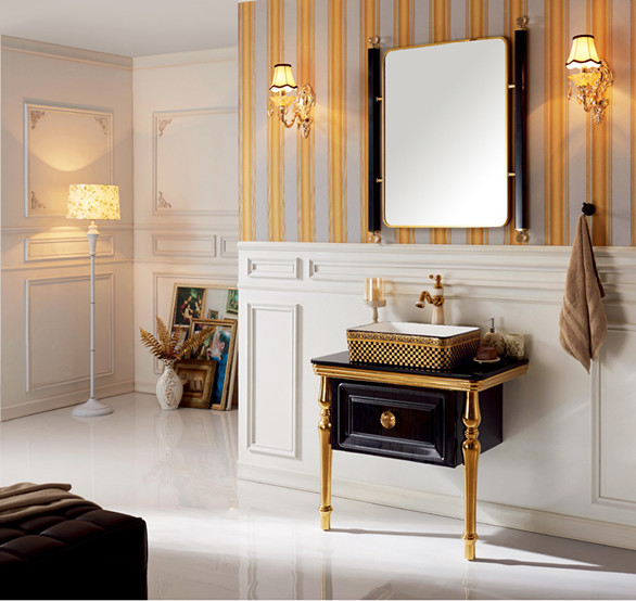 Vanity With Sink Anqitue Style Bath Room vanity cabinet With Mirror