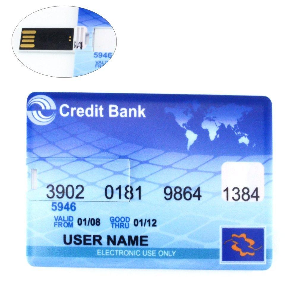 16GB Ultra-slim Credit Bank Card Shaped USB Flash Disk Drive
