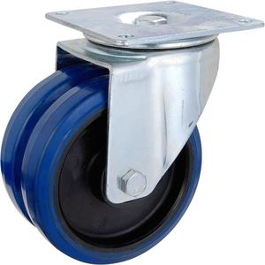 Eco-friendly anti-static castor 150mm rubber loose pu shock absorbing caster wheel for trolley
