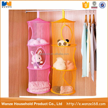 Home-Cube 2pcs Set New Hanging Mesh Storage Basket Toys Organizer 3 Compartments