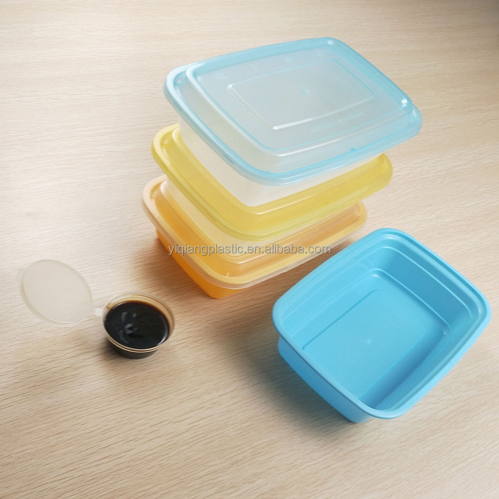 Stackable plastic egg shaped container for food