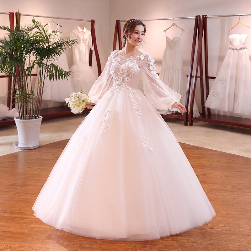 Venta al por mayor mangas vestido novia-Compre online los mejores ...