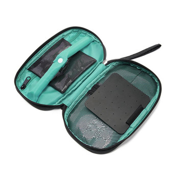 Portable Travel Jewelry Organizer Case Earring and Necklace Storage Pouch