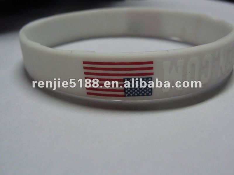 USA country flags silicone bracelet promotional item