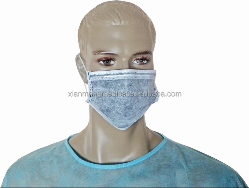 China factory OEM cheap disposable 4ply non woven active carbon face mask