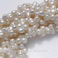 10mm AA grade baroque peanut shape irregular freshwater natural gourd pearl strand
