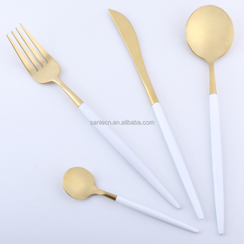 LEKOCH Best Modern 18K Gold Plated Flatware Set of Stainless Steel Dinnerware Cutlery Dinner Fork Spoon  sc 1 st  Wholesale Alibaba & Lekoch Best Modern 18k Gold Plated Flatware Set Of Stainless Steel ...