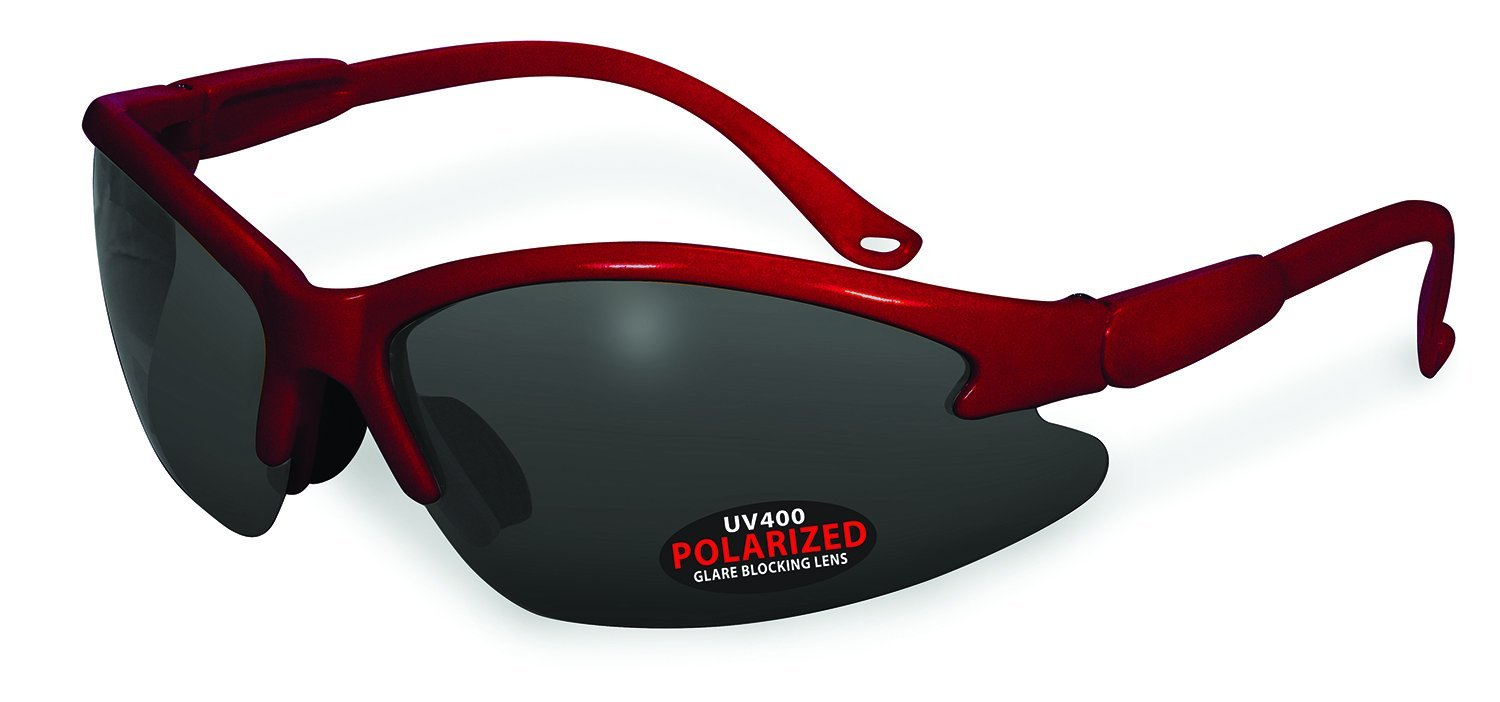 Specialized Safety Products COWLITZ RED GRY Unisex Polarized Sunglasses with Grey Lenses, Red