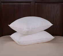 Luxury Washable White Goose Feather & Down Pillows, Medium/Firm Support, 100% Cotton Cover, Pack of Two, 19*29""