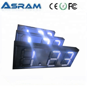 led gas price display/led gas station sign/led fuel price sign display board panel Factory price outdoor gas station led price