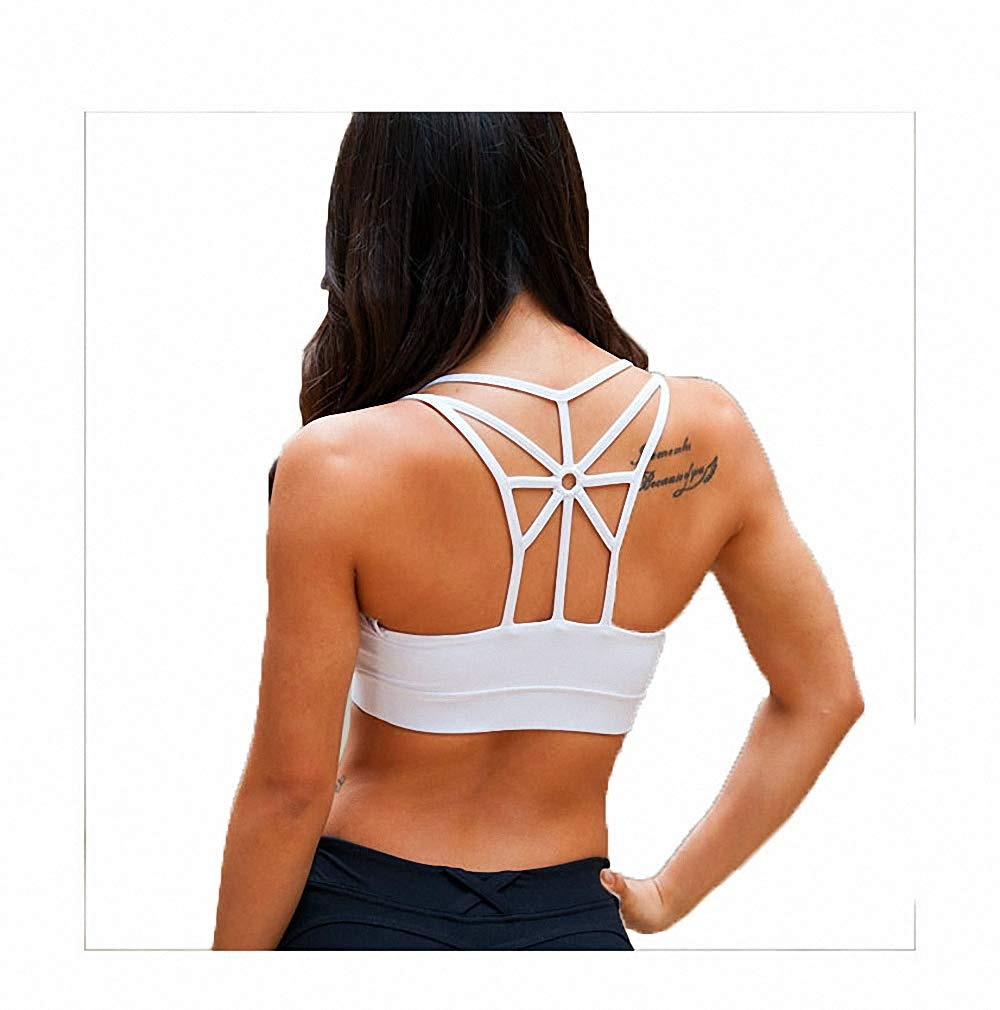 Alec&Arvin Mermaid Curve Sexy Back Mesh Shape Sports Bra Women Running Hollow Out Yoga Tops