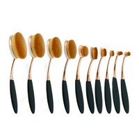 AY big promotion Fashionable Professional Nylon Oval Make up Brush Set