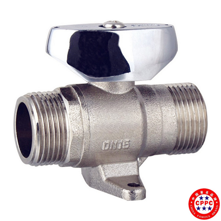 brass and aluminum panel supplier din standard oxygen outlet ball valve with connection lock(water meter)