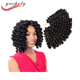 Wholesale 2x value jumpy afro bounce twist synthetic hair wand curl crochet braid with free samples